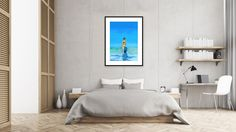 Free poster Summer Time in interior - A blue illustration by KathleenSteegmans
