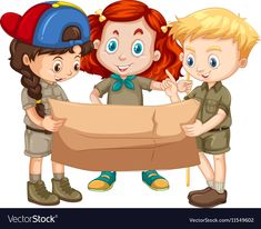 Three kids looking at map vector image on VectorStock Jungle Theme Classroom, Classroom Themes, Conquistador, School Frame, Scout Camping, Camping Theme, Map Vector, School Decorations, Vector Photo