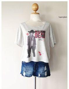 Chandler Riggs Carl Grimes The Walking Dead TV Series Women Top Wide Crop Fashion T shirt