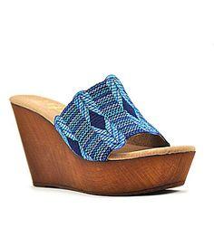85aeea6924bf2 Reba Starlet Wedge Sandals  Dillards