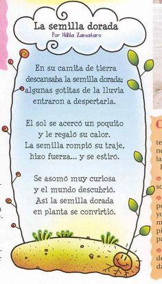 poesias o rimas sobre las flores o plantas para niños - Google Search