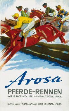 Arosa pferderennen~ Hugo Laubi