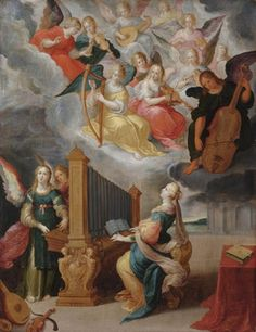 Saint Cecilia Cornelis de Baellieur the Elder (Flemish, and Frans Francken III (Flemish, Oil on panel. Whereas Frans Francken III was a shop owner and did not become an. Santa Cecilia, Altar, Seven Archangels, Nicolas Poussin, Google Art Project, Angels In Heaven, Heavenly Angels, Dutch Painters, Angel Art
