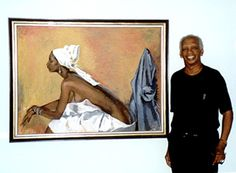 Borne in Port-of-Spain, Trinidad. Boscoe taught Caribbean dance at the Katherine Dunham School. Holder married, and later moved with his new wife, Shelia, to the UK in 1950. He returned home for good in 1970, made a name for himself as a painter with exhibits throughout the Caribbean, and later opened his studio at his home on Woodford Street in Woodbrook, Port-of-Spain.