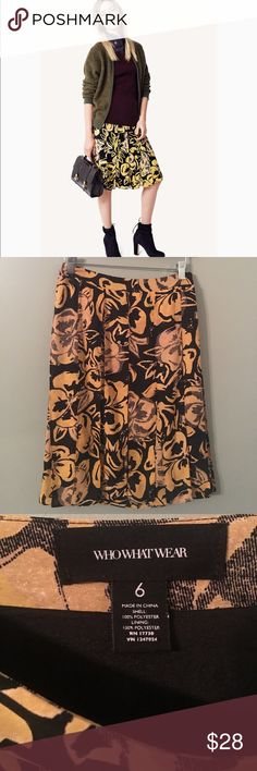 Who what wear floral skirt NWOT who what wear floral skirt mustard gold and black. who what wear Skirts