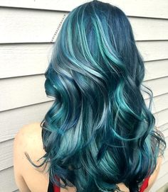 {#VPInspiration} love this blue with silver highlight @karyssadoeshair