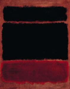 Mark Rothko - Black in Deep Red (1957)