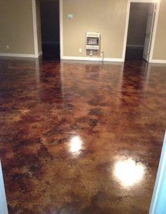 Coffee Brown Acid Stain Floors
