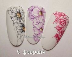 Beautiful nail art designs that are just too cute to resist. It's time to try out something new with your nail art. Jasmine Nails, Sunflower Nail Art, Rose Nail Art, Nails First, Modern Nails, Garra, Arte Floral, Flower Nails, Beautiful Nail Art