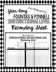 Fountas and Pinnell Instructional Levels for Reading. Not