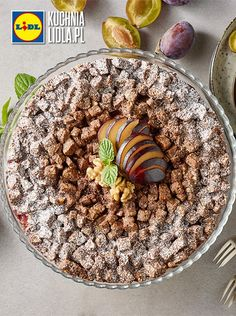 Ciasto orzechowe z jabłkami i śliwkami. Kuchnia Lidla - Lidl Polska. #pawel #orzechy #jablka #sliwki