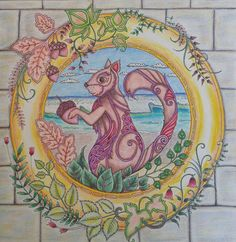 Enchanted Forest by Johanna Basford, Squirrel Page