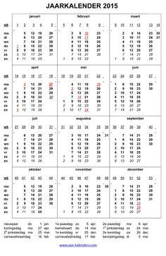 jaarkalender 2015 - Google zoeken