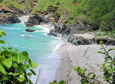 Lantic Bay is a large sandy beach with a steep climb down. Pencarrow head is an easy walk out to, pet friendly dogs welcome in Cornwall Devon And Cornwall, Cornwall England, London England, Cornish Beaches, British Beaches, Cornwall Beaches, St Just, South West Coast Path, British Travel