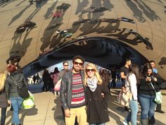 """The classic """"Chicago bean"""" photo; embracing our inner tourist on our first trip to the Windy City"""