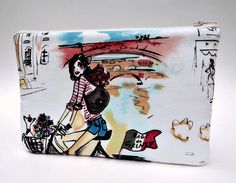 Makeup Bag Slim in Who's That Girl by paisleybaby on Etsy, $15.00