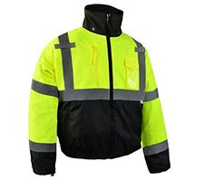 CJ Safety CJHVBJ3001GN4L ANSI Class 3  Bottom Bomber JacketBlack 4XLarge -- Read more reviews of the product by visiting the link on the image. (Note:Amazon affiliate link)