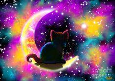Cat Art Painting - Cosmic Cat by Nick Gustafson