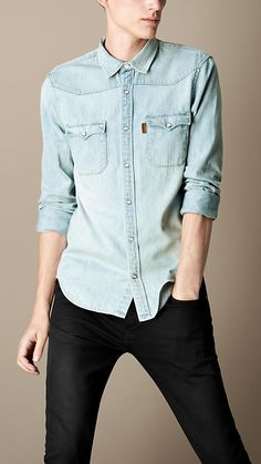 Burberry Brit Cotton Denim Shirt