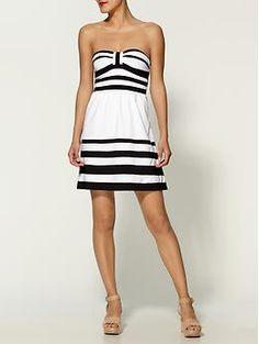 Nautical strapless dress on Piperlime, great summer-wedding dress.