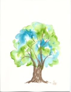 if i were to ever get a watercolor tattoo it would be a tree