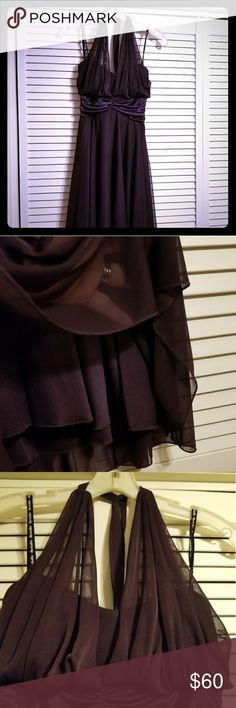 DB Dress This Beautiful plum color dress will quickly become your go-to dress thanks to the flattering silhouette, sweetheart neckline. Worn once. Zipper Back; Fully Lined David's Bridal Dresses