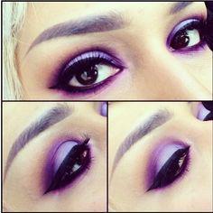 Purple smokey eye look