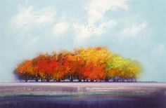 Love this oil painting from UGallery. Maple Grove by George Peebles