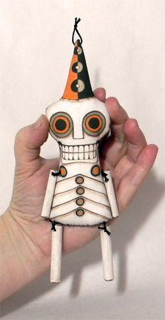 Tag der Toten Skelett Doll Ornament  von CartBeforeTheHorse auf Etsy, $18.00