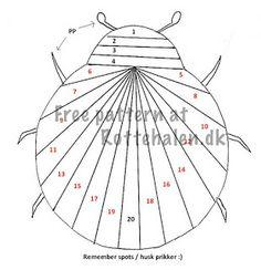 Iris Folding: Ladybug