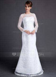 Wedding Dresses - $162.99 - Trumpet/Mermaid Scoop Neck Floor-Length Lace Wedding Dress (002015810) http://jjshouse.com/Trumpet-Mermaid-Scoop-Neck-Floor-Length-Lace-Wedding-Dress-002015810-g15810