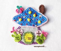 Crochet Baby Toys, Crochet Gifts, Diy Crochet, Crochet Motif, Crochet Flowers, Crochet Patterns, Crochet Fairy, Crochet Keychain, Crochet Kitchen