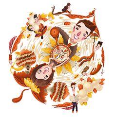 Seasons Krastsvetmet - Andrew Lebedinsky | Illustratorhttp://andrew-lebedinsky.com/