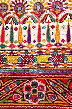 a bag full of embroidery from kutch