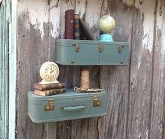 Best 25 Suitcase Shelves Ideas On Pinterest Vintage