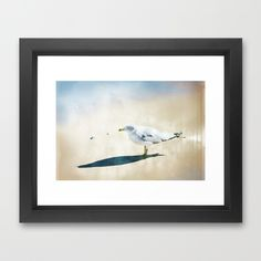 One Lone Seagull Framed Art Print