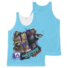 Guardians of the Galaxy Vol. 2   Group Collage All-Over-Print Tank Top   Marvel Comics Tank Tops For Teens and For Women   Marvel Fans