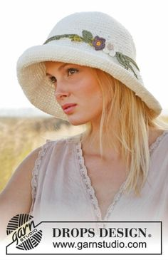 Women's Sun Hat, Handmade Crochet Hat, Women's Summer Hat, Floppy Brim Hat, Cotton FIber Hat, Summer