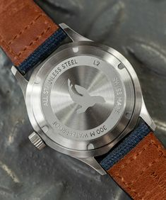 Maurice de Mauriac water resistant timepiece for men. Water resistant: 300 meters Photo: Hodinkee #waterresistantwatch #luxurytimepiece #watchesformen
