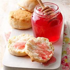 Rose Petal Honey Recipe -This delicious recipe is a perfect topping for toast or English muffins. It is so simple to make and will impress guests at tea.—Mary Kay Dixson, Decatur, Alabama
