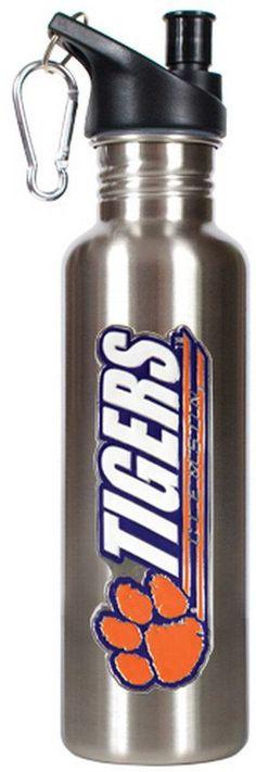 NCAA Clemson Tigers Stainless Steel Water Bottle