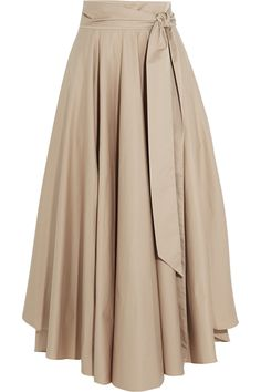 Tibi Obi cotton crepe maxi skirt