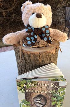 Teddy bear in timber centerpiece