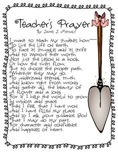 I love love love this teacher's poem ... speaks directly to the heart of WHY I teach Kindergarten!