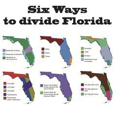 Six Ways to Divide Florida.