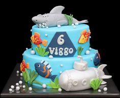 Cute under the sea cake