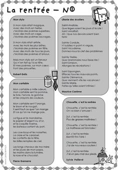 CM - Littérature - Poésies par thème
