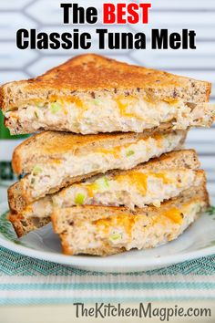 Nothing beats a hot, cheesy tuna melt sandwich for a comfort food lunch or dinner, and we have a few family secrets to making the best tuna sandwich ever! Deli Sandwiches, Sandwich Bar, Best Tuna Sandwich, Hot Sandwich Recipes, Dinner Sandwiches, Tuna Recipes, Cooking Recipes, Budget Recipes, Sandwich Melts