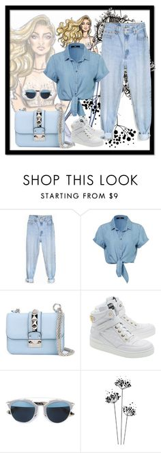 """Untitled #218"" by fgasyhd ❤ liked on Polyvore featuring Levi's, Valentino, Moschino, Christian Dior, women's clothing, women, female, woman, misses and juniors"