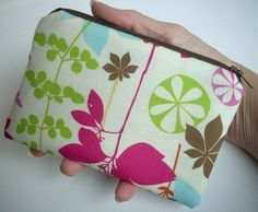 Little Zipper pouch Padded Coin Purse Gadget Case by JPATPURSES, $8.00